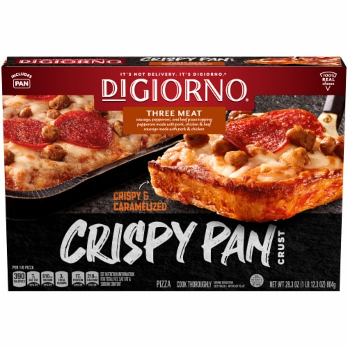 DiGiorno Three Meat Crispy Pan Pizza Perspective: front