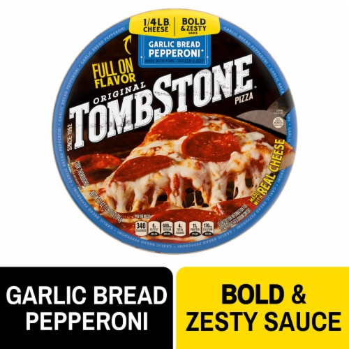 Tombstone® Garlic Bread Pepperoni Frozen Pizza Perspective: front