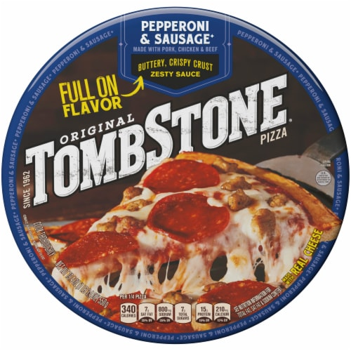 Tombstone Pepperoni & Sausage Frozen Pizza Perspective: front