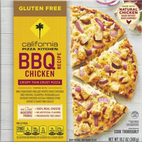 California Pizza Kitchen BBQ Recipe Chicken Gluten Free Pizza Perspective: front