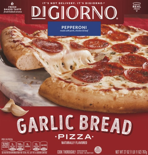 DiGiorno Garlic Bread Pizza Pepperoni Perspective: front