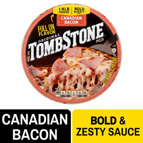 Tombstone Canadian Bacon Frozen Pizza Perspective: front