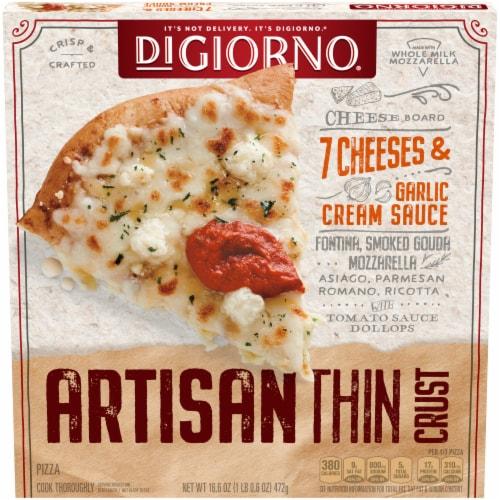 DiGiorno Cheese Board Artisan Thin Crust Frozen Pizza Perspective: front