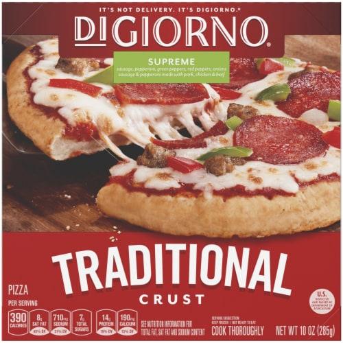DiGiorno, Traditional Crust Supreme Pizza, 6.5 inch, 10 oz. (10 count) Perspective: front