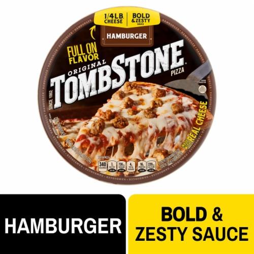 Tombstone Hamburger Frozen Pizza Perspective: front