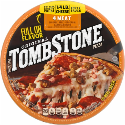 Tombstone Four Meat Frozen Pizza Perspective: front