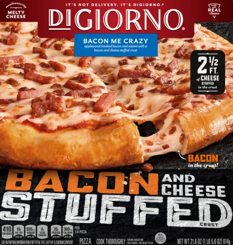 DiGiorno Bacon Me Crazy Bacon & Cheese Stuffed Crust Pizza Perspective: front