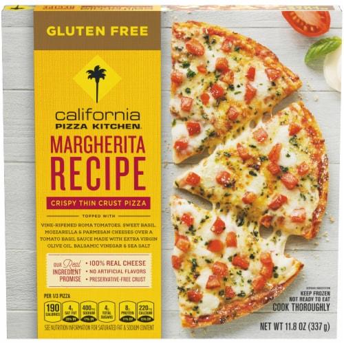 California Pizza Kitchen Margherita Recipe Gluten Free Pizza Perspective: front