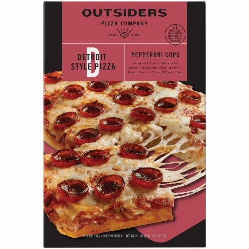 Outsiders Pizza Company Detroit Style Pepperoni Pizza Perspective: front