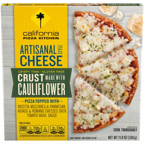 California Pizza Kitchen Artisanal Cheese Cauliflower Thin Crust Frozen Pizza Perspective: front
