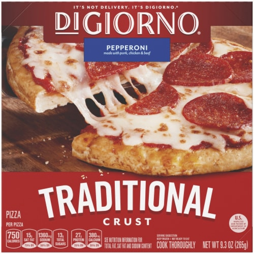 DiGiorno, Traditional Crust Pepperoni Pizza, 6.5 inch. 9.3 oz. (10 count) Perspective: front