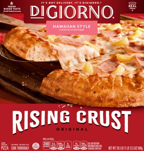 DIGIORNO Hawaiian Style Frozen Pizza on a Rising Crust Perspective: front