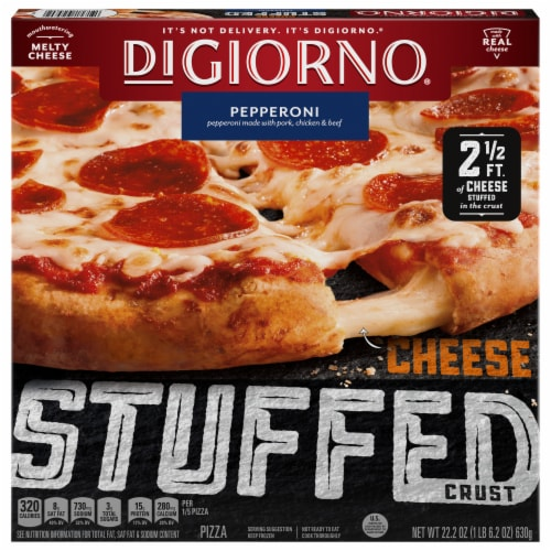 DiGiorno Cheese Stuffed Crust Pepperoni Frozen Pizza Perspective: front