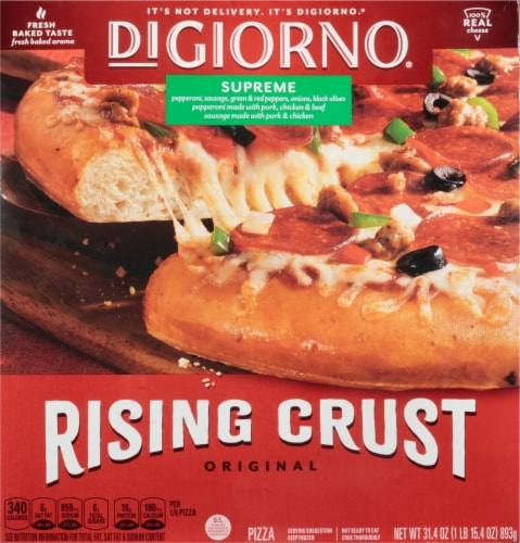 DiGiorno Original Rising Crust Supreme Frozen Pizza Perspective: front