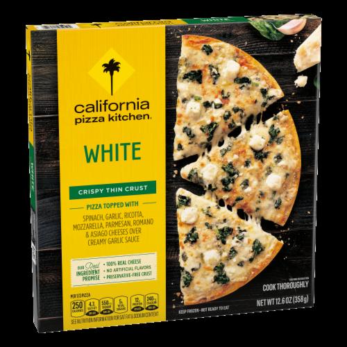 California Pizza Kitchen White Crispy Thin Crust Frozen Pizza Perspective: front