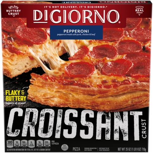 DIGIORNO Pepperoni Frozen Pizza with Croissant Crust Perspective: front