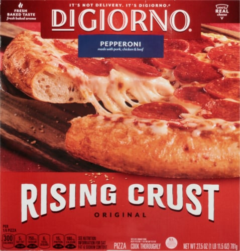 DIGIORNO Pepperoni Frozen Pizza on a Rising Crust Perspective: front