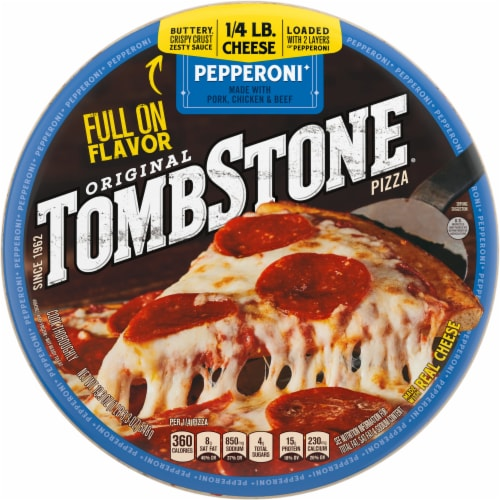 Tombstone Pepperoni Frozen Pizza Perspective: front