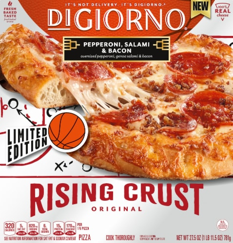 DiGiorno Limited Game Day Edition Rising Crust Bacon Blitz Pizza Perspective: front