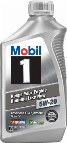 Mobil 1 5W-20 SAE Advanced Full Synthetic Motor Oil Perspective: front