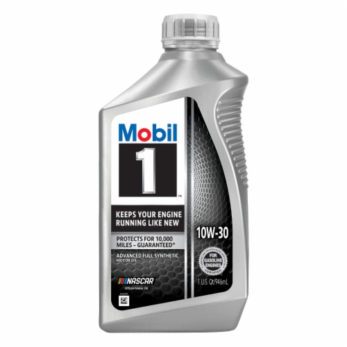 Mobil 1 10W-30 Advanced Full Synthetic Motor Oil Perspective: front