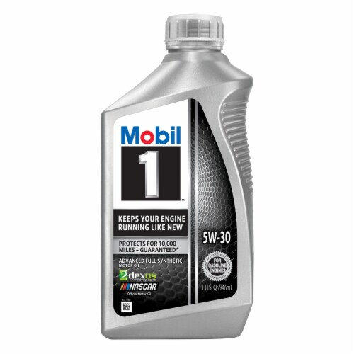 Mobil 1 5W-30 Advanced Full Synthetic Motor Oil Perspective: front