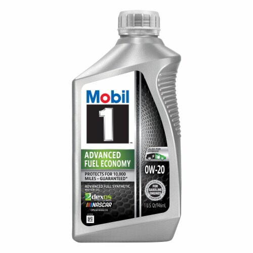 Mobil 1 Advanced Fuel Economy 0W-20 Advanced Full Synthetic Motor Oil Perspective: front