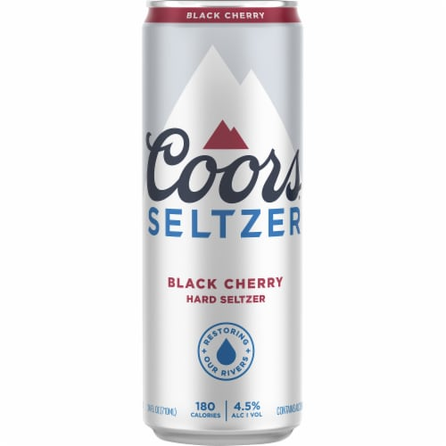Coors Black Cherry Gluten Free Hard Seltzer Perspective: front
