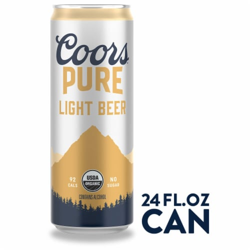 Coors Pure Light Beer Perspective: front