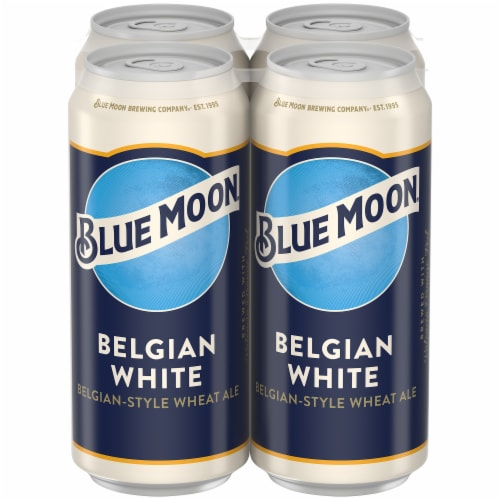 Blue Moon Belgian White Belgian Style Wheat Ale Beer Perspective: front