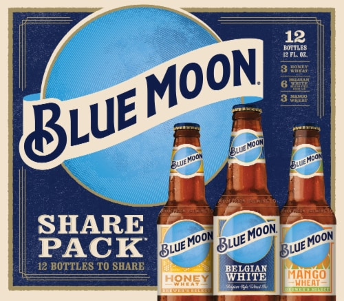 Blue Moon Ale Beer Variety Pack 12 Bottles Perspective: front