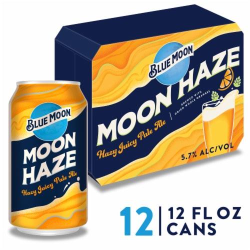 Blue Moon® Moon Haze Juicy Pale Ale Beer Perspective: front