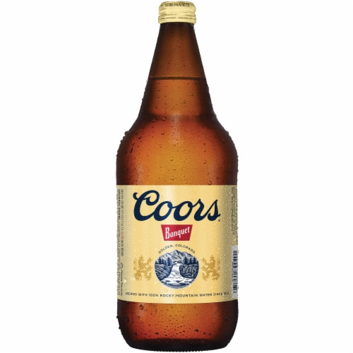 Coors Banquet Lager Beer Perspective: front