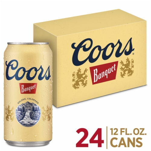 Coors Banquet Lager Beer 24 Cans Perspective: front
