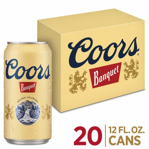 Coors Banquet Lager Beer 20 Count Perspective: front