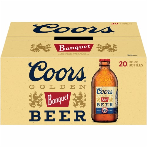 Coors Banquet Lager Beer 20 Bottles Perspective: front