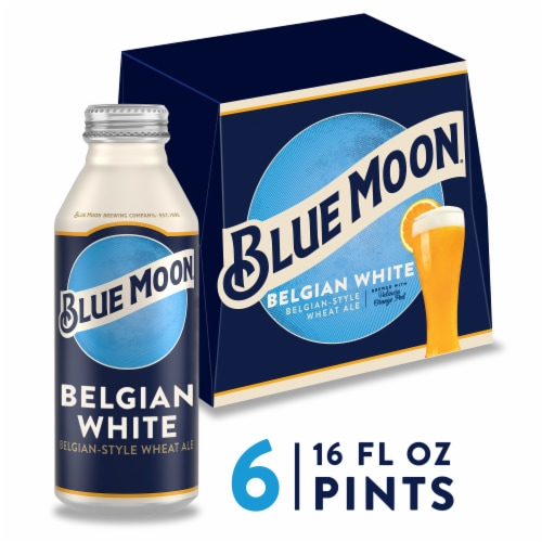 Blue Moon Belgian White Belgian-Style Wheat Ale Beer Perspective: front