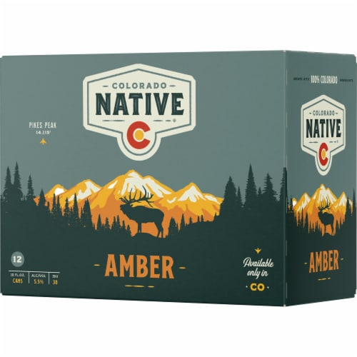 Colorado Native Amber Beer Perspective: front