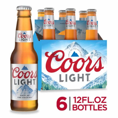 Coors Light American Lager Beer Perspective: front