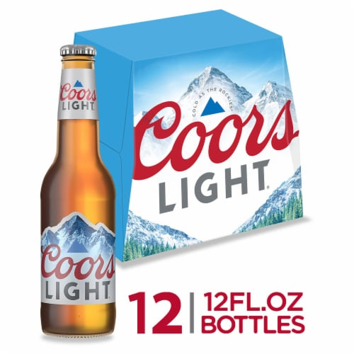 Coors Light American Light Lager Beer 12 Count Perspective: front