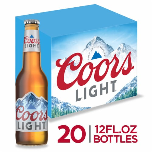 Coors Light American Light Lager Beer 20 Count Perspective: front