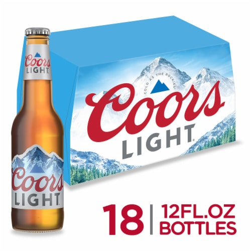 Coors Light American Light Lager Beer 18 Count Perspective: front