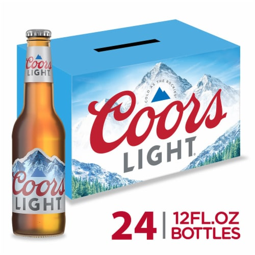 Coors Light American Light Lager Beer 24 Count Perspective: front