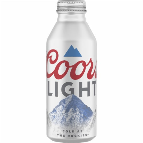 Coors Light Aluminum Can Beer Perspective: front
