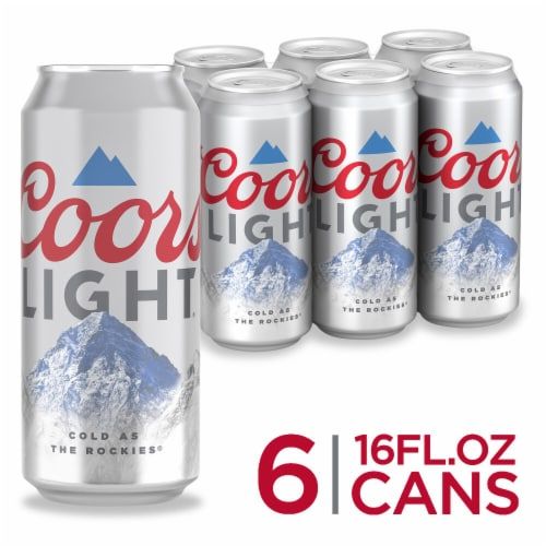 Coors Light American Light Lager Beer Perspective: front