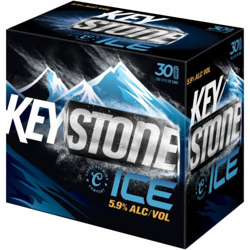 Keystone Ice Lager Beer Perspective: front
