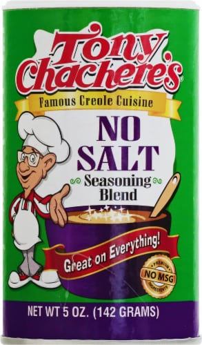 Tony Chachere's No Salt Seasoning Blend Perspective: front