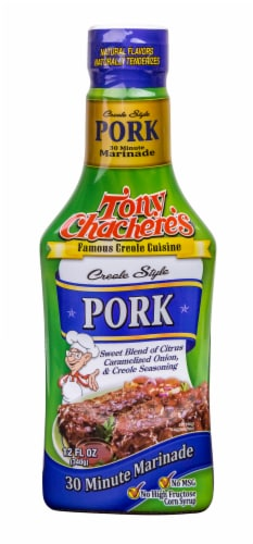 Tony Chachere's Pork Pourable Marinade Perspective: front