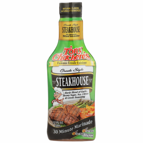 Tony Chachere's Creole Style Steakhouse Marinade Perspective: front