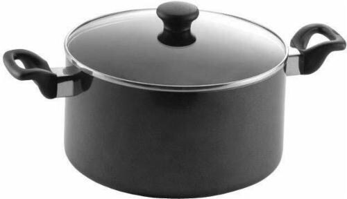 Mirro Get A Grip Nonstick Covered Stock Pot - Black Perspective: front